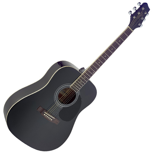 Fotografie Akustická kytara Stagg černá