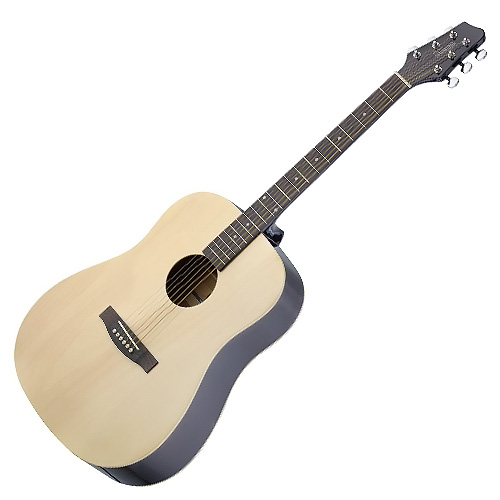 Elektro-akustická kytara Stagg pro leváky, typu Dreadnought