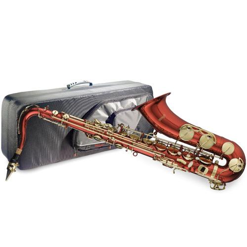 Saxofon Stagg červený, s pouzdrem
