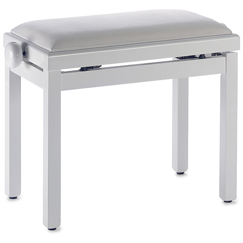 Stolička ke klavíru Stagg výsuvná, bílá