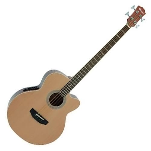Elektro-akustická baskytara Dimavery Dimavery AB-450 akustická basa, přírodní