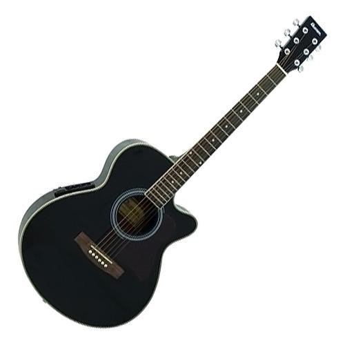 Elektro-akustická kytara Dimavery Dimavery JK-303 Cutaway 4-Band Eq, černá