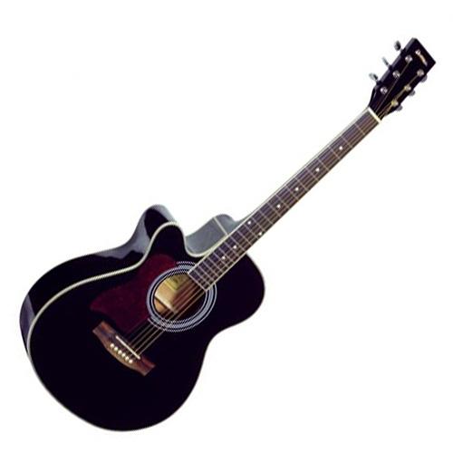 Elektro-akustická kytara Dimavery Dimavery JK-303L Cutaway kytara, černá