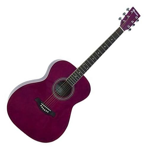 Westernová kytara Dimavery Dimavery AW-303 westernová kytara, červená