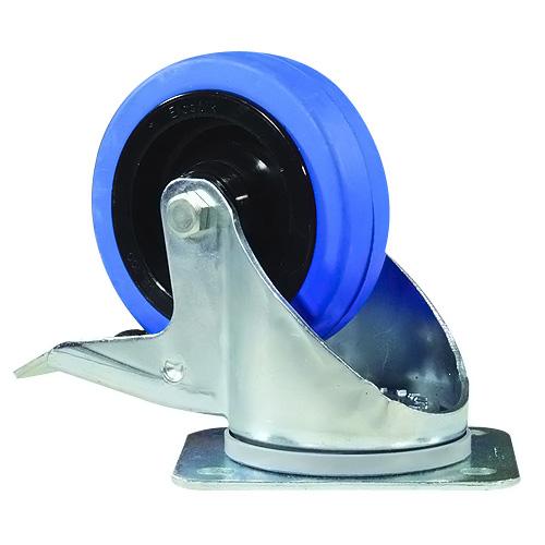 Otočné kolečko Accessory Otočné kolečko Blue Wheel, 100mm s brzdou
