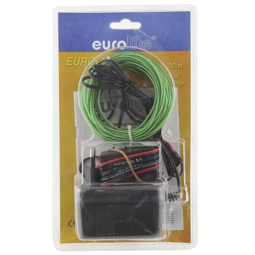 Světelný efekt Eurolite Eurolite neonový provázek 10m, 2mm, zelený