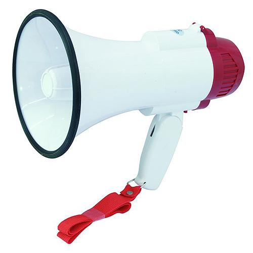 Megafon Omnitronic bílý, 10W, délka 24,5 cm