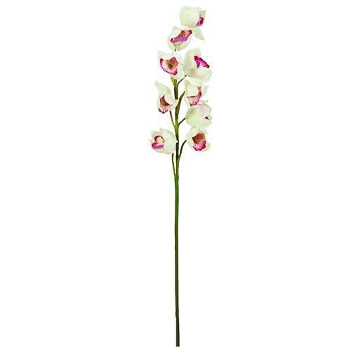 Větvička orchideje Europalms Orchidej větvička, bílo-růžová, 90cm