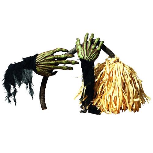 Hororové koště Europalms halloween, délka koštěte 60 cm