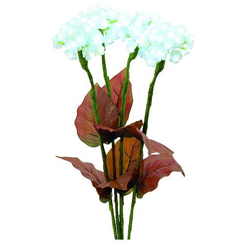 Hortenzie Europalms Hortenzie s květy, bílé, 100 LEDs