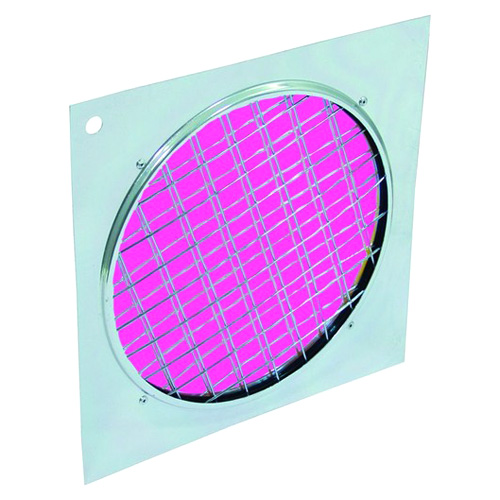 Dichrofiltr Eurolite Dichrofiltr PAR 64 magenta, stříbrný rámeček
