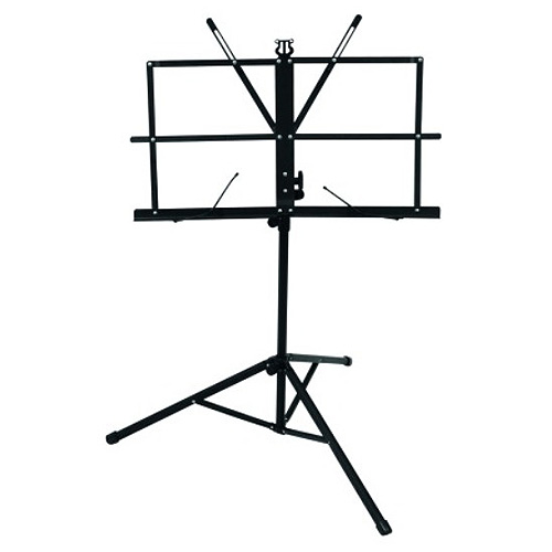 Notový stojan Omnitronic maximální výška 130 cm, černý