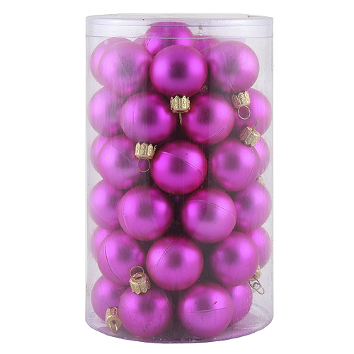 Vánoční ozdoba Europalms Vánoční dekorační ozdoby, 3,5 cm, růžová metalíza, 48 ks