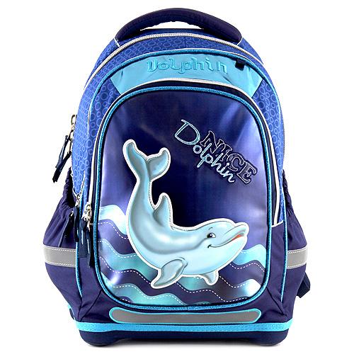 Školní batoh Target 3D Dolphin, barva modrá