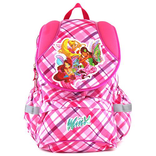 Školní batoh Winx Club růžový, motiv kostky