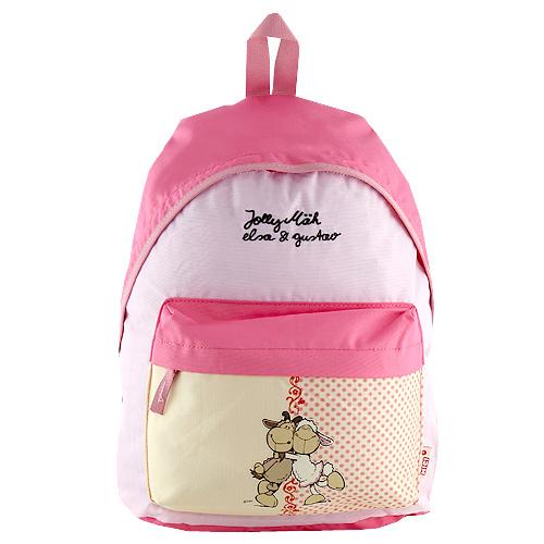 Dětský batoh Nici žluto-růžová, dvě ovečky