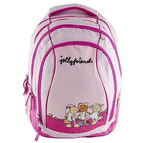 Školní batoh 2v1 Nici růžový, tři ovečky
