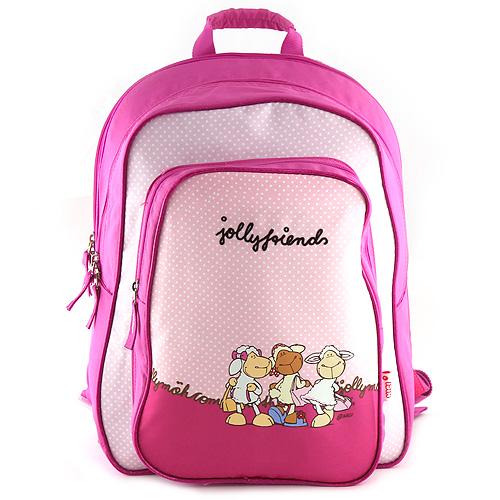 Školní batoh Nici růžový, tři ovečky