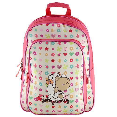 Školní batoh Nici motiv barevných vzorků