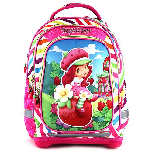 Cool Školní batoh Strawberry Shortcake motiv dívky a jahod