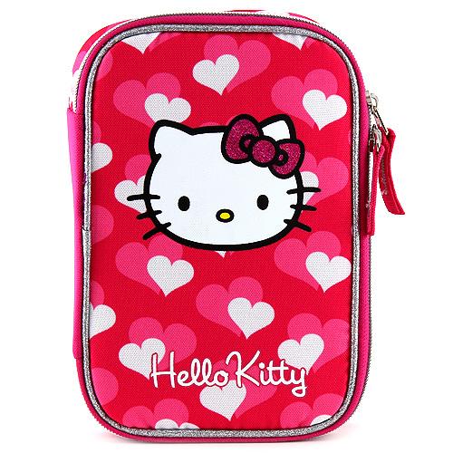 Školní penál Hello Kitty s náplní srdce