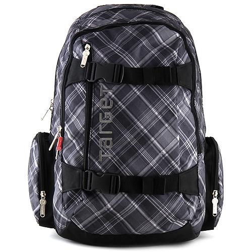 Sportovní batoh Target kostkovaný černý
