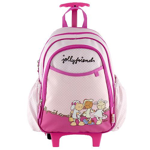 Batoh trolley mini Nici fialovo-růžový, tři ovečky