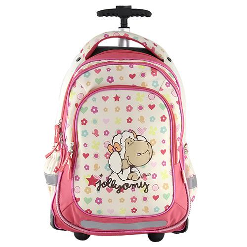 Školní batoh trolley Nici motiv barevných vzorů