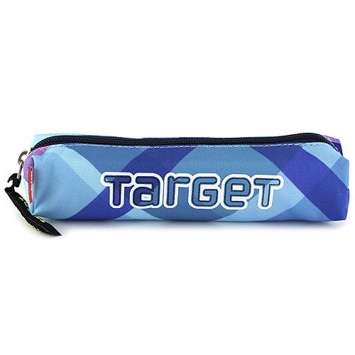 Školní penál Target Modro-fialové kostky
