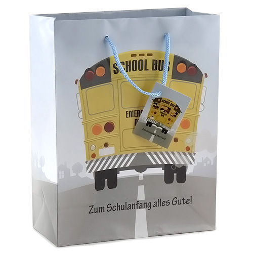 Dárková taška Idena 18x8x23cm, motiv autobusu