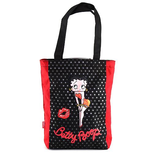 Nákupní taška Betty Boop červeno-černá