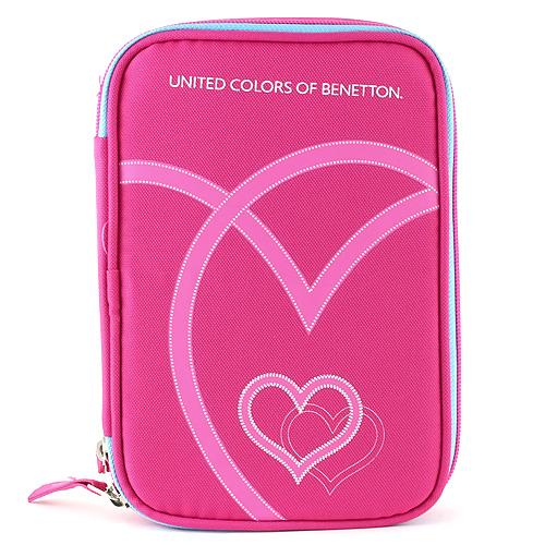 Školní penál s náplní Benetton růžový