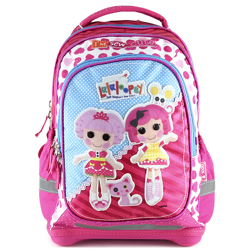 Školní batoh Lalaloopsy motiv panenek, růžový