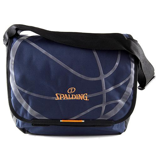 Taška přes rameno Spalding tmavě modrá, rozměry 42x33x10cm