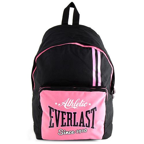 Batoh Everlast růžovo/černý, rozměry 43x30x18cm
