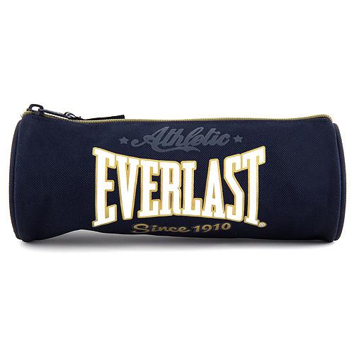 Školní penál Everlast kulatý, tmavě modrý