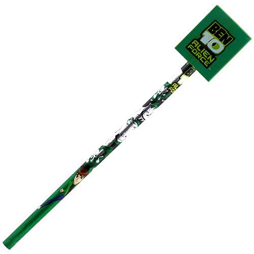 Tužka Ben 10 zelená se zelenou gumou a s motivem Ben 10