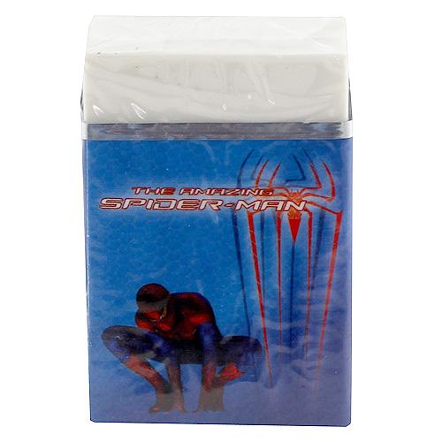 Guma Spiderman s tmavě modrý přebalem, s motivem Spidermana