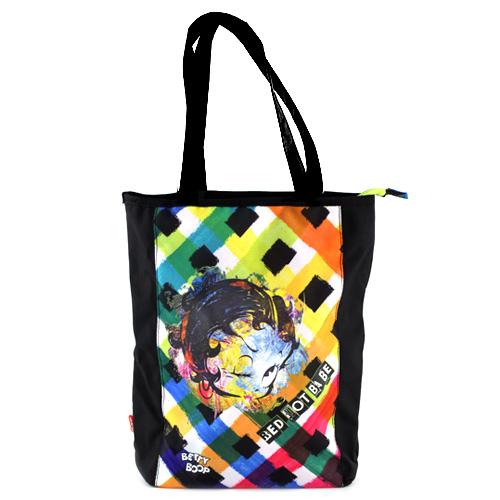 Taška přes rameno Betty Boop černá s barevným motivem Betty Boop