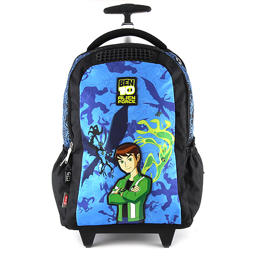 Školní batoh trolley Ben 10 černý s modrým motivem Ben 10 Alien Force