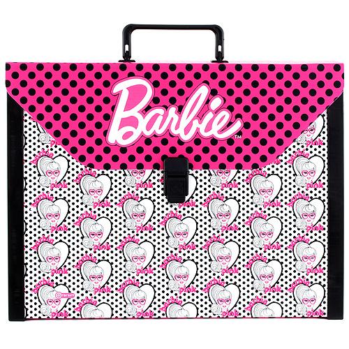 Kufřík Barbie velikost A4, růžovo/bílý, s motivem panenky Barbie
