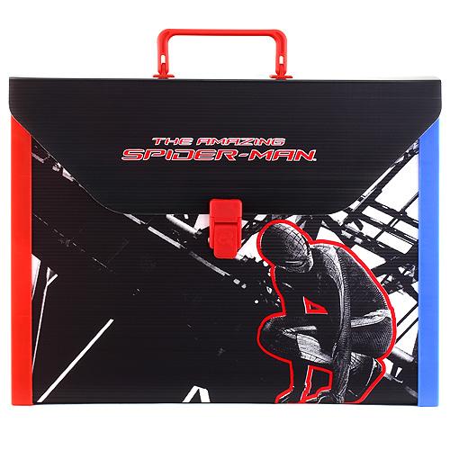 Kufřík Spiderman velikost A4, černo/červený, s motivem Spidermana