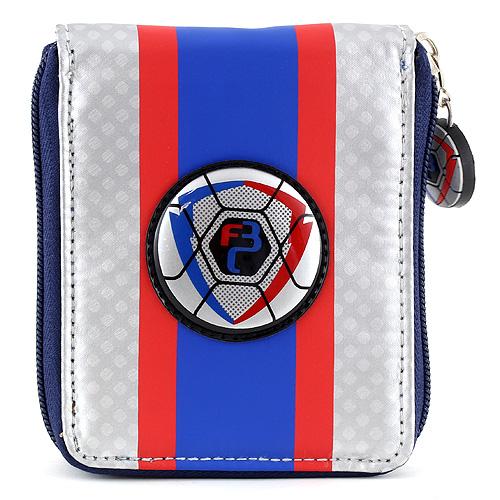 Peněženka Goal modro/stříbrná s motivem fotbalového míče