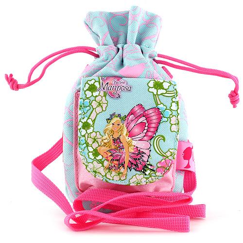 Pouzdro na mobil Barbie světle zelená s růžovými ornamenty, s motivem panenky Barbie