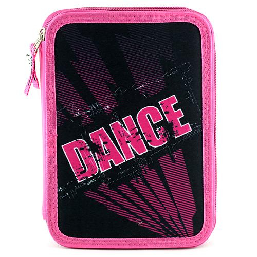 Školní penál s náplní Target Dance, barva černo-růžová