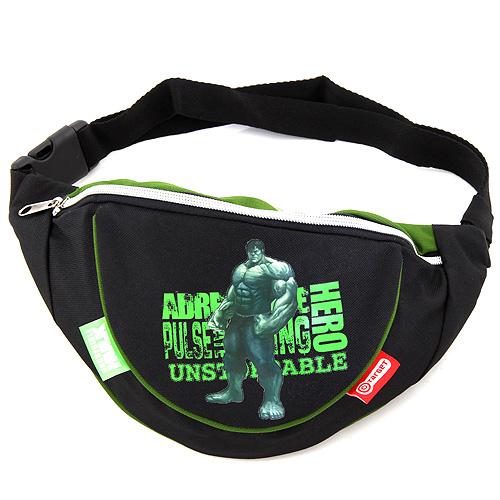 Ledvinka Hulk černo/zelená, s motivem Hulk