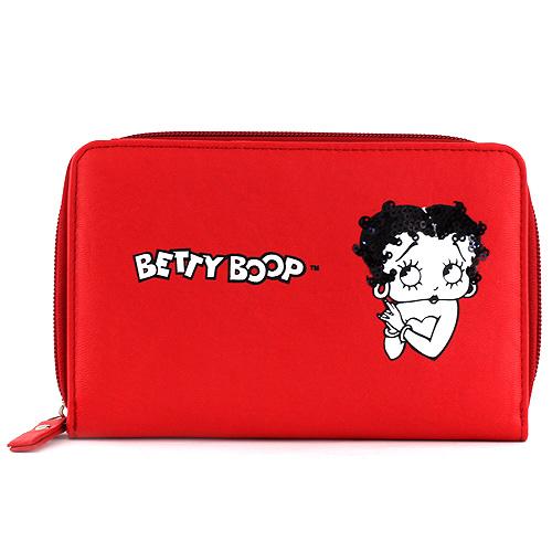 Peněženka Betty Boop červená s motivem panenky Betty Boop