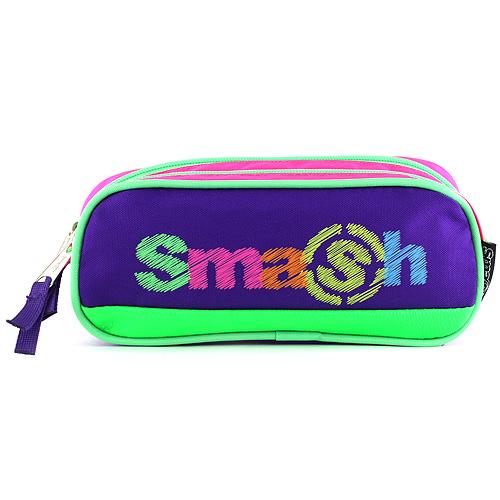 Školní penál bez náplně Smash růžovo/fialový