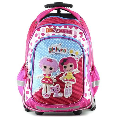 Školní batoh trolley Lalaloopsy Textilní nášivka