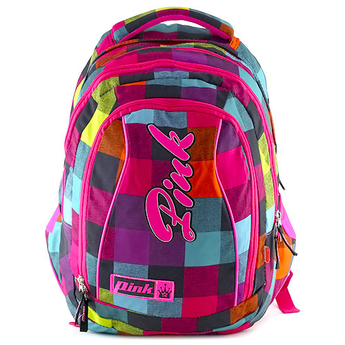 Studentský batoh 2v1 Pink Backpack Pink Rainbow (2 In 1)